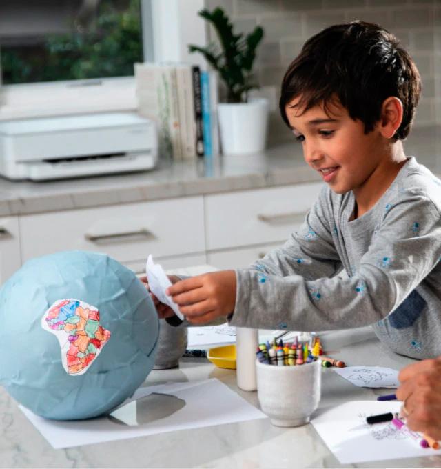 Impresión en el hogar para escuela o trabajo