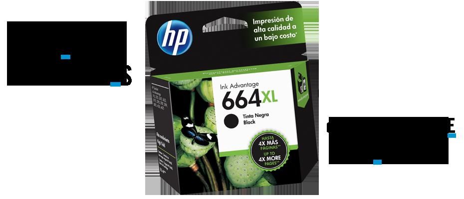 Cartuchos de Tinta HP 664 xl