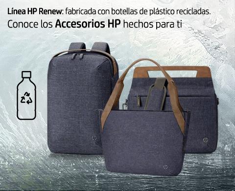 Linea HP Renew, hecha con plástico reciclado