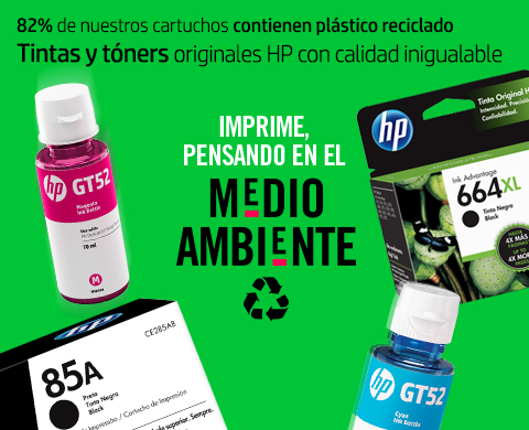 82% de nuestros cartuchos están hechos con plástico reciclado.