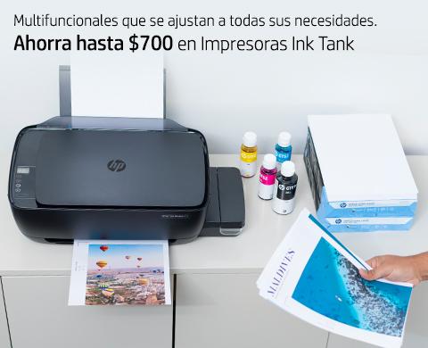 Ahorra hasta $700 en una Impresora Ink Tank