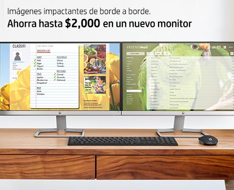 Ahorra hasta $2,000.00 en Monitores